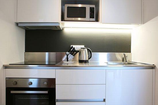 Mika Villas Apartments& Studios: Kitchen in Loft Aparments