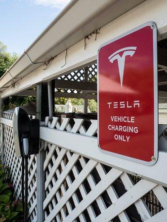 Tesla charging spot