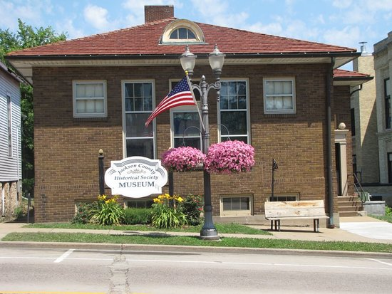 Black River Falls, WI: Jackson County Historical Society Museum. 1915 Carnegie Library building registered on the Wisconsin State & National Register of Historic Places.