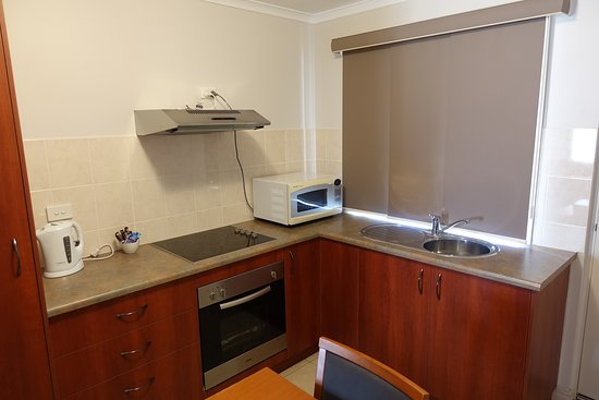 Kitchen area in disabled friendly superior studio apartment
