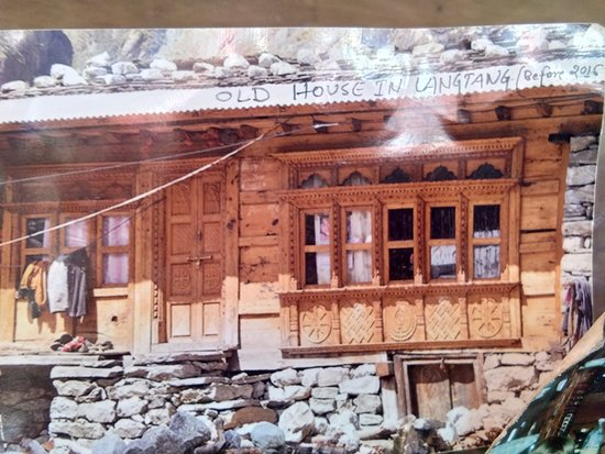 Hiking Nepal: Old house that was covered by rocks in the earthquake. The lady owner survived because she was out working in the fields at that time.