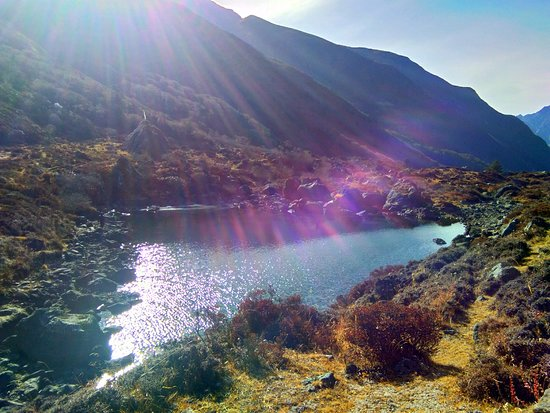 Hiking Nepal: 5 small lakes at the lower plains - half day easy walking.