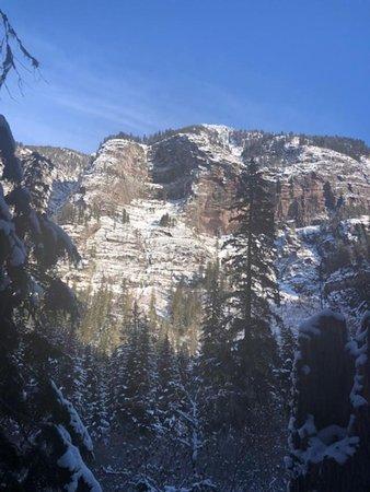 Across the canyon