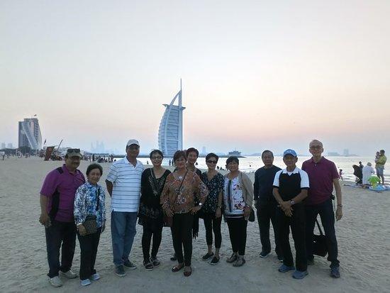 Our Guests at Jumeirah beach, Burj Al Arab, Dubai