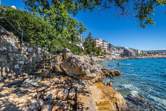 Beautiful Opatija  Croatian city.