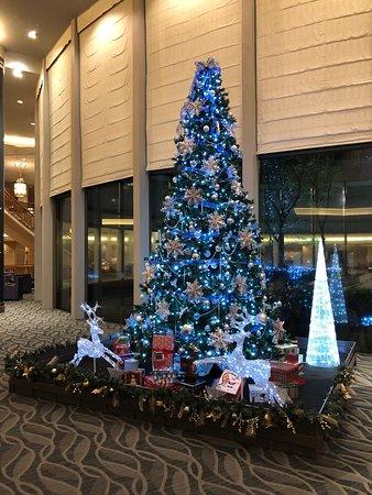 Hilton Tokyo Narita Airport Hotel: Christmas decorations in lobby area