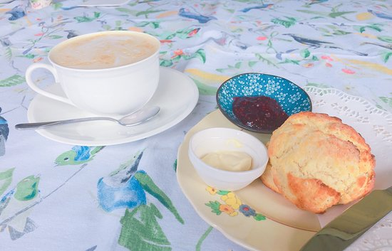 Rainbow Falls Bed and Breakfast: Scones and tea