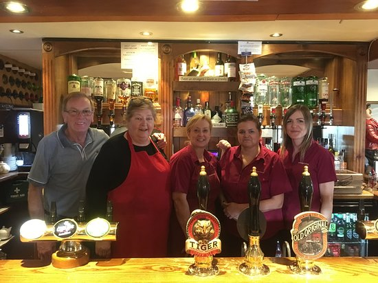 the fantastic staff at the Bricklayers Arms