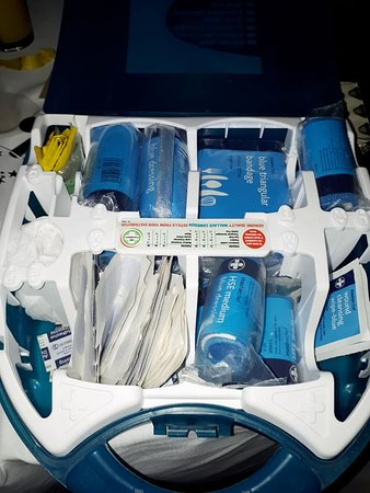 First Aid kit provided immediately on request along with offer of assistance if required.