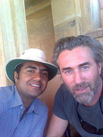 jaisalmer walking tour with canadian actor Mr.Roy Dupuis.