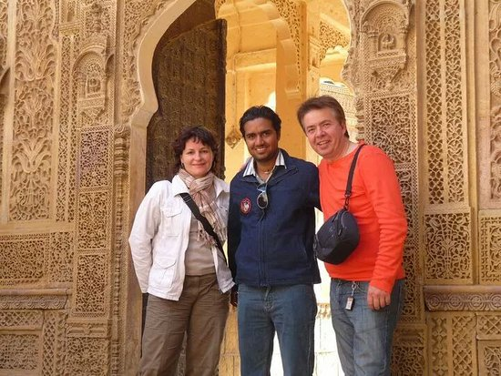 Jaisalmer Walking Tour with french guest Mr.Filou and Ms Cathy in 2010