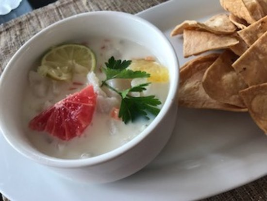 Kore Tulum Retreat and Spa Resort: Ceviche with coconut milk.  YUM!