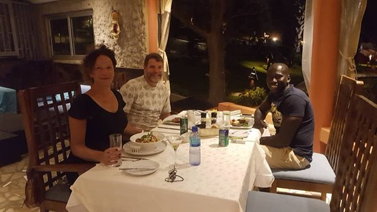 we ate together at the Ngala lodge :-)