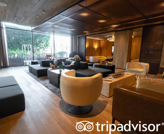 Lobby at the Kimpton Hotel Palomar Los Angeles Beverly Hills