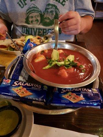 Al Capon Clamato Shrimp Tostada Picture Of 210 Ceviche