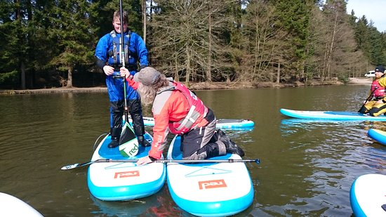 SUP instructors course at Mallards Pike