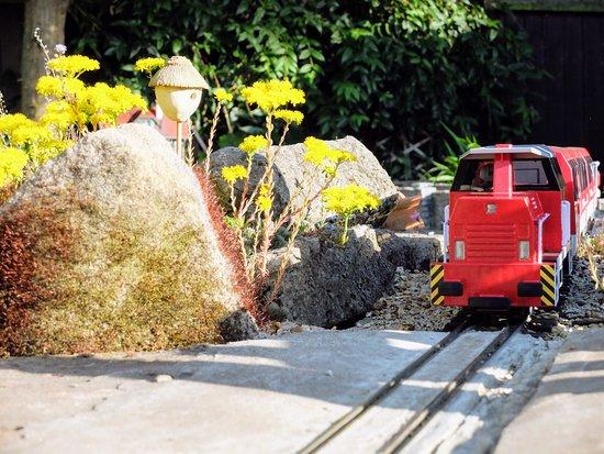 Soar Valley Garden Railway: Red Diesel Train in Sutton Bonington
