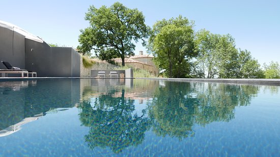 """Masquieres, France: ultimate """"black"""" heated pool with a lot of privacy and unique view"""
