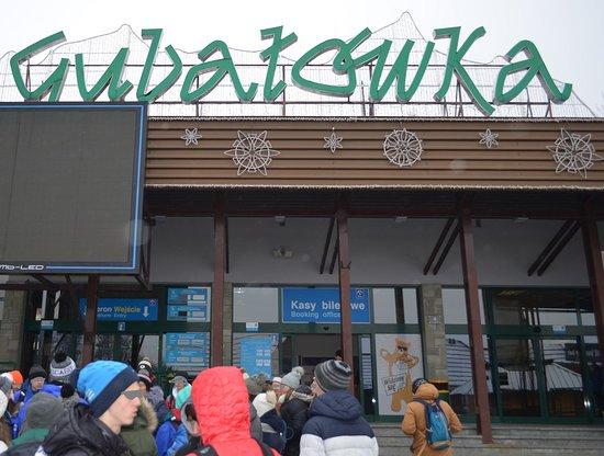 Kolej Linowo Terenowa PKL Gubalowka: The bottom station