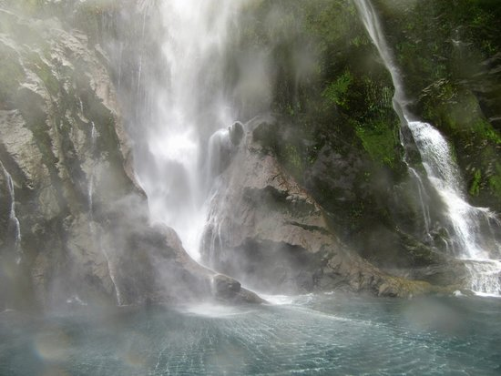 Milford Sound Cruise with Optional Bus Tour: The falls