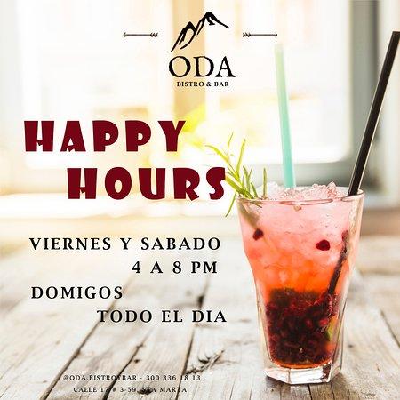 Happy hours de Viernes a domingo