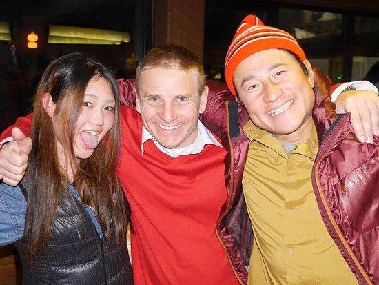 Hakuba Brew Pub: Happpy guests!