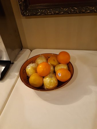 What they consider the fruit for their continental breakfast.