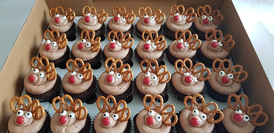 Rudolph arrived at sticky and sweet cupcake