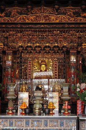 Deities inside the temple.