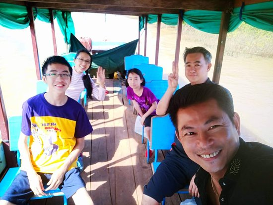 Angkor Friendly Driver: A very happy and nice trip in Siem Reap Tonle Sap's boat