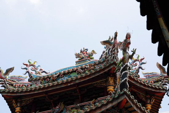 Roof decorations.