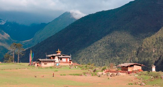 Temple in remote bhutan.