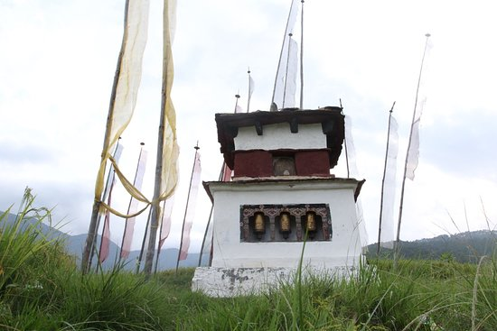 Stupa that you will see on cultural tours in Bhutan.