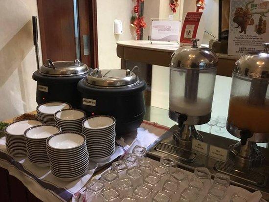 Silka West Kowloon Hotel: Pequeno almoço (papas chinesas)
