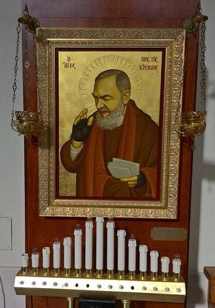 Chiesa di San Mauro: icona - Padre Pio