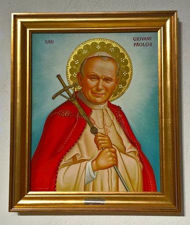 Chiesa di San Mauro: icona - Giovanni Paolo II
