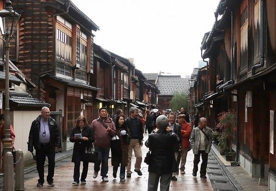 Kanazawa, Japonsko: 逆から見ると、こんな感じだ