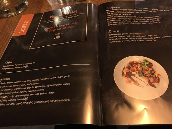 LUNA Eten & Drinken Stein: Dinerkaart