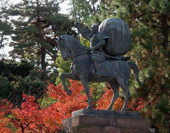 Kanazawa, Japonsko: 槍の利家。母衣武者時代か