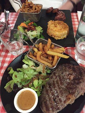 Assiette St Jean (camembert rôti) // Entrecôte