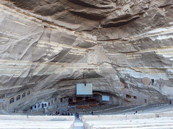 Cave church amphitheater