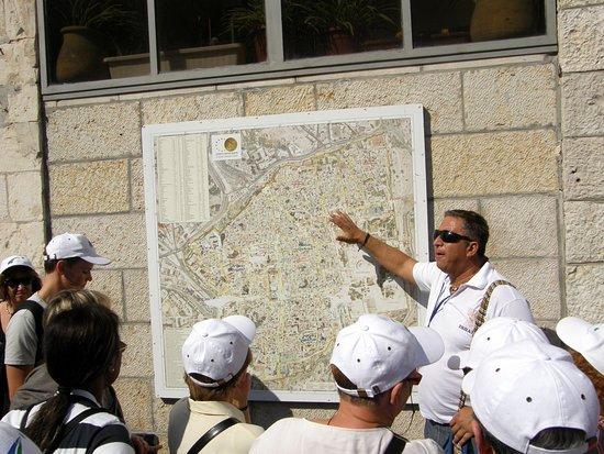 EXPLICATIONS DE LA CARTE DE JERUSALEM