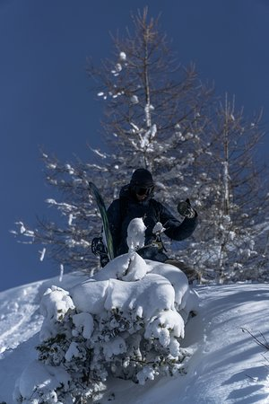Vivid Snowboarding: Looking for fresh lines in the backcountry in Bruson