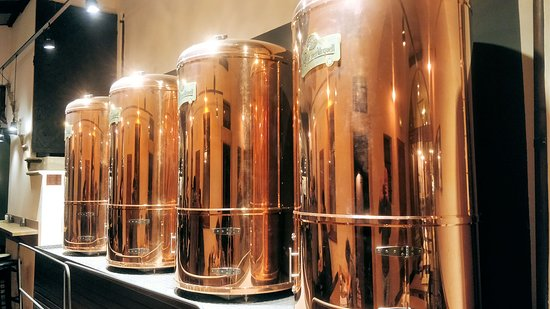 The beer tanks