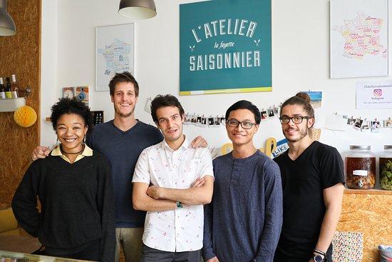 L'Atelier Saisonnier - Paris 9e: La dream Team de l'Atelier Saisonnier 2018 vous accueil tous les jours de la semaine du Lundi au Dimanche inclus