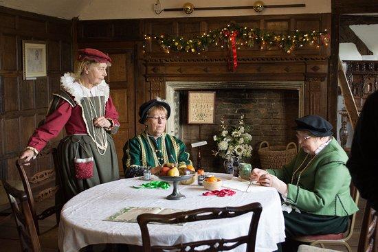 Harvington, UK: Volunteers in period costume