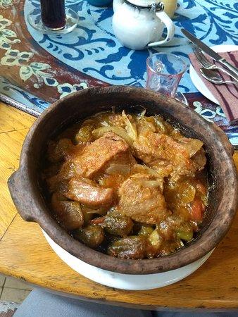 lamb clay pot