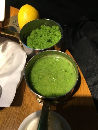 Here you can see the inconsistency between the two mushy peas served.