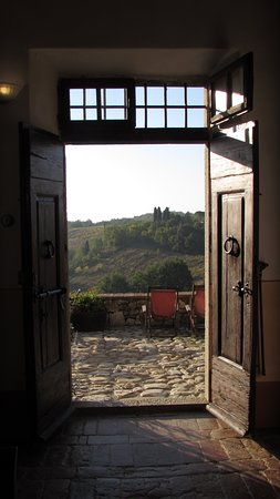 Looking out from Borgo Argenina