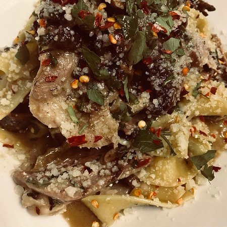 Lusciously melded Duck Confit and Mascarpone Parpardelle - really to die for!